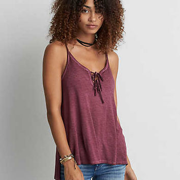 AEO Soft & Sexy Double Tie Cami, Lead