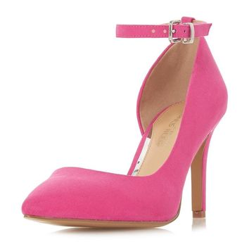 *Head Over Heels by Dune Pink 'Clarra' Heeled Court Shoes | Dorothyperkins