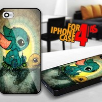 Swimming Stitch for iPhone 4 / 4s Black case