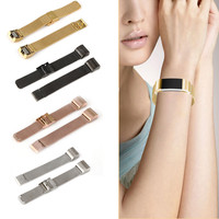 Luxury Milanese Loop Stainless Steel Metal Watch Band Strap For Fitbit Charge 2