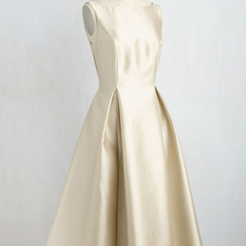 Careful What You Lavish For Dress in Champagne | Mod Retro Vintage Dresses | ModCloth.com