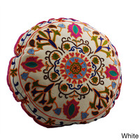 Medallion Design Round Floor Pillow (India) | Overstock.com Shopping - The Best Deals on Throw Pillows & Covers