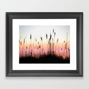 Beach Dunes at Sunset Framed Art Print by Digital Effects
