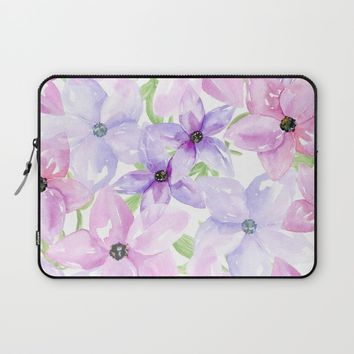 clematis vines Laptop Sleeve by Sylvia Cook Photography