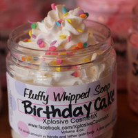 Fluffy Whipped Soap - Birthday Cake 4 oz. Vegan