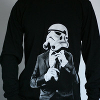 Smart Trooper - Mens / Unisex Long Sleeve t-shirt ( Star Wars long sleeve t shirt )
