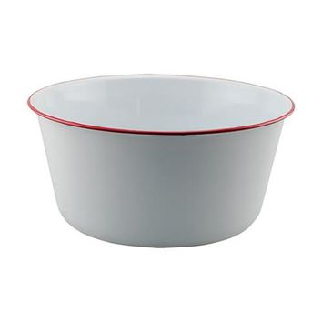 Red Rim Enamel Bowl