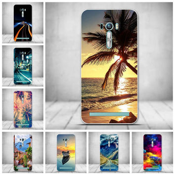 New TPU Mobile Phone Case For Asus Zenfone2 Zenfone 2 Laser ZE500KL ZE500KG Soft Silicon Back Cover Shell Skin Shield Protector