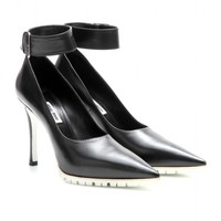 Leather Pumps With Ankle Strap ∫ Miu Miu | mytheresa