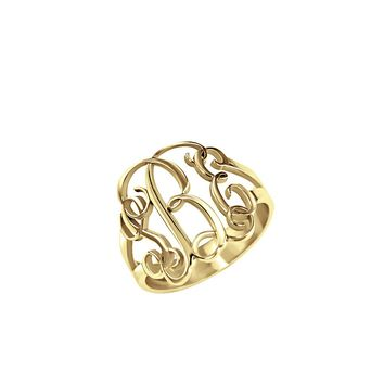 Traditional Monogram ring