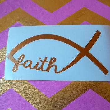 Faith decal Christian decal Car Decal Monogram Decal Monogram Vinyl Vinyl Decal Monogram Gift Monogram sticker Car sticker  Vinyl Lettering