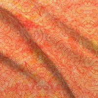 Orange and red swirls doodles fabric - savousepate - Spoonflower