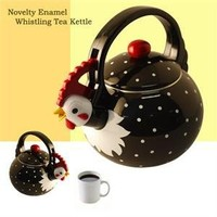 Supreme Housewares Whistling Tea Kettle, Rooster