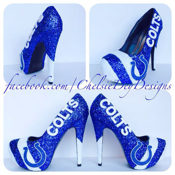 Indianapolis Colts Glitter High Heels