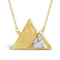 Gold Marble Mountain Necklace
