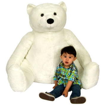 "37"" Sitting Polar Bear Plush"
