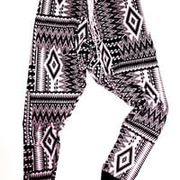LAST FEW Unisex Convertable Tribal Blanket Aztec Harem pants -  Size Xsmall Small Medium Large