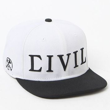 Civil Trap Snapback Hat - Mens Backpack - White - One