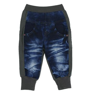 Fashion Kids Jeans Pants Casual Boys Denim Spring Autumn Two Colors Patchwork Long Pants Trousers for 3-8 Years Boys