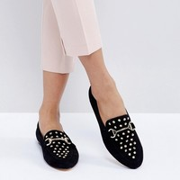 Office Flash Studded Loafers at asos.com