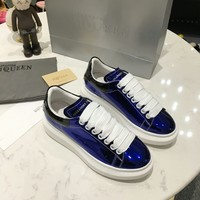 Alexander McQueen Men Casual Shoes Boots fashionable casual leather