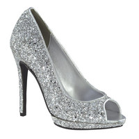 Formal Shoes - Touch Ups Tease-4030 Silver Glitter Heels