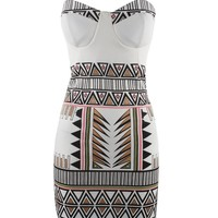 Printed Bra sexy dress AS107EA