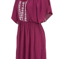peasant dress with cold shoulders