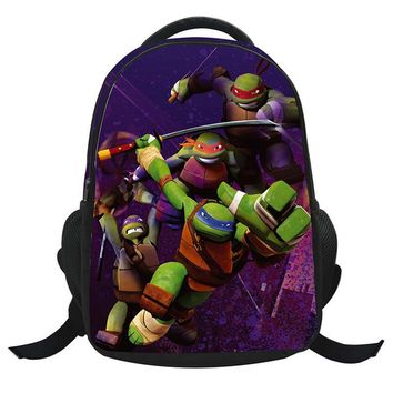 Mutant Ninja Turtles Printed Backpacks 3D Cartoon Schoolbags for Boys/Girls Children Backpacks for Teenagers Out door bag
