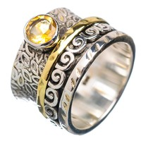Spinner Ring - Two Tone Citrine & Bronze