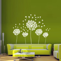 Wall decal decor decals sticker art vnyl design Dandelion Flower Nature Plants Botanic Grass Forest Bedroom Living Room Nursery (m1255)