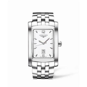 Longines DolceVita Mens-Large White Dial Stainless Steel Watch L56864166