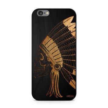 Black Bamboo - Chief Indian Skull Phone Case