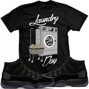 Jordan 11 Cap Gown Match Sneaker Tees Shirt - LAUNDRY DAY