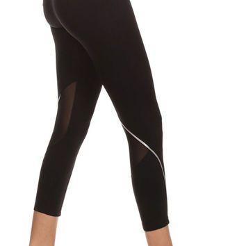 BJB Fit: Black Capri with Mesh Inserts