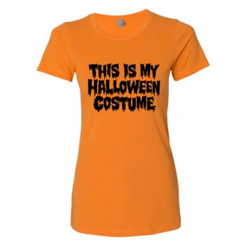 This Is My Halloween Costume Slim Shirt