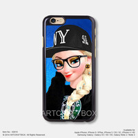 Elsa Punk Disney Princess Starbucks iPhone Case Black Hard case 818