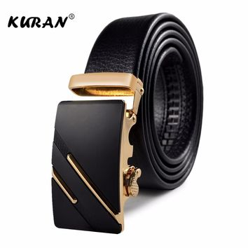 =Black Belt Men High Quality Genuine Luxury Leathe