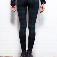 Women's Green Tartan Annalee Leggings