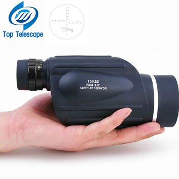 GOMU 13x50 binoculars with rangefinder waterproof telescope distance meter type monocular outdoor binoculo 114m 1000m