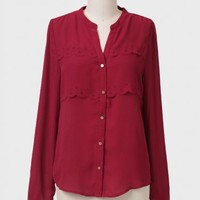 Holly Berry Tiered Blouse