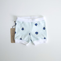 Blueberry Dots Organic Baby Shorties