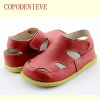 COPODENIEVE  Casual Boys Girls Sandal For Baby Shoes Anti-Slip Children Sandals Brand White Pink