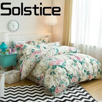 Solstice Home Textile 2018 Fashion Print Soft Comfortable Reactive Printed Bedding Bed Sheets Pillow Case Quilt Cover 3/4pcs