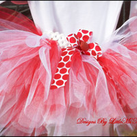"Red and White Baby tutu For Christmas  Toddler Tutu Little Girl Tutu "" Candy Cane Lane"" , Photography Prop , Tutu"