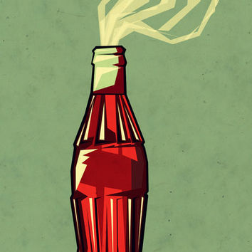 Genie out the bottle Art Print by Yetiland | Society6