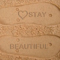 Stay Beautiful Custom Sand Imprint Flip Flops