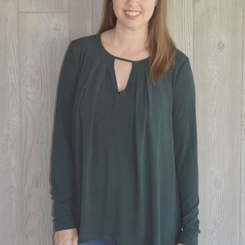 Cutting Edge Flare Top: Dark Green