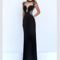 Strappy Cap Sleeves Sherri Hill Formal Prom Gown 50117