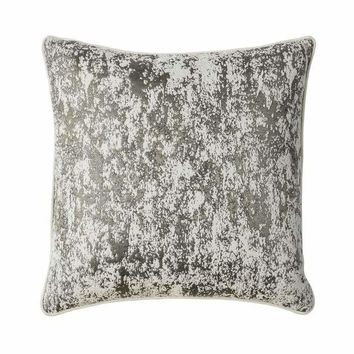 Contemporary Style Set of 2 Throw Pillows, Silver -PL8036-2PK By Casagear Home
